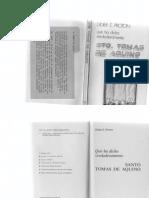 Proton, Didier E. - Qué Ha Dicho Verdaderamente Santo Tomas de Aquino. Ed. Doncel 1971
