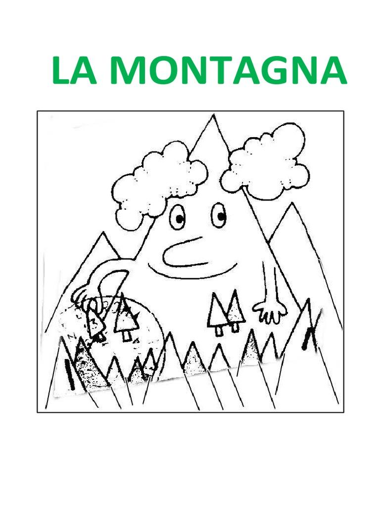 La montagna disegni da colorare - Immagini da colorare delle montagne ...