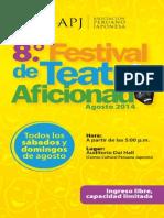 Programa Teatro Aficionado 2014 WEB