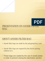 Presentation on Anode Filter Bag