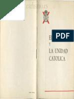 El Carlismo y La Unidad Católica