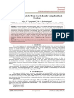 A Novel Approach for User Search Results Using Feedback  Sessions