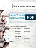 Role Of newspaper in public awerness