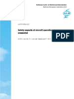 Safety Aspects of Aircraft Operations in Cross