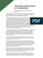 Fe cristiana y Masoneria