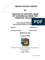 Analysis of Efforts Made by Commercial Banks for Financial Inclusion