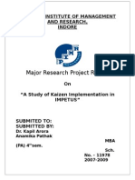 "Rathore's ProjecA Study of Kaizen Implementation in IMPETUS""t"