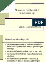 Novinarski (Publicistički) Funkcionalni Stil