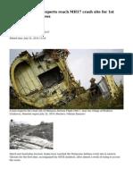 Dutch, Australian experts reach MH17 crash site for 1st time — RT News