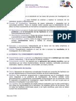 Tema 1 - La Investigación Científica en Psicología.