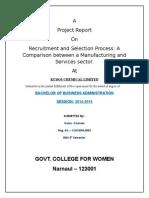 mbaprojectonrecruitmentandselectionprocess-140209100857-phpapp02