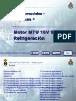 MOTOR MTU 16 V 956 TB 91_07 REFRIGERACION