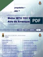 MOTOR MTU 16 V 956 TB 91_10 AIRE DE ARRANQUE