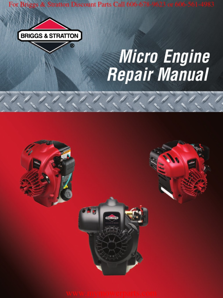 Micro Trimmer Engine Repair Manual BRIGGS & STRATTON | Gasoline | Carburetor