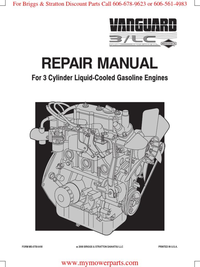 ms0750 vanguard 3 cylinder ohv lc gasoline briggs stratton rh scribd com Ford F-350 Diesel Manual Diesel Transfer Pump Manual