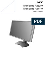 p232w p241w Usermanual Nec