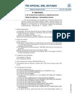 BOE 24 de Junio 2014.  Anuncios de licitaciones públicas y adjudicaciones. MINISTERIO DE EMPLEO Y SEGURIDAD SOCIAL.