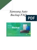DUT_Samsung Auto Backup FAQ Ver 2.0