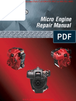 Briggs & Stratton Micro Force Eng Service Manual | Piston