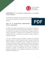 Cuadernillo Ingreso TUESS 2013