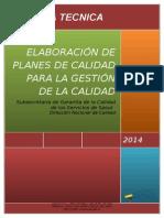 Norma Tecnica Para La Elaboracion de Planes de Calidad