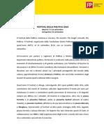 Festival Della Politica 2014 - Cartella Stampa