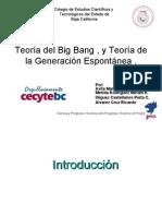 Teoria Del Big Bang, Teoria de La Generacion Espontanea Biologia