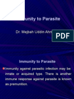 Immunity to parasite