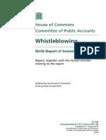 UK Committee of Public Accounts Whistleblowing Report