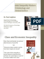 Why Inequality Matters for Criminology and Criminal Justice