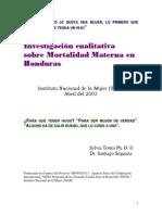 Investigación Culitativa de Mortalidad Materna