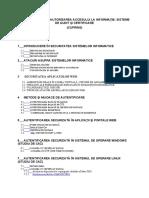 Autentificarea si autorizarea accesului la informatie. Sisteme de audit si certificare_CUPRINS