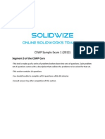 SolidWize CSWP Sample Exam 1 Segment 3
