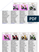 Specifications of 50cc scooter
