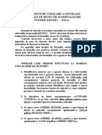 Instructiuni de Utilizare Centrala SOLO 22.12.2005