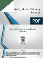 Visión, Misión, Valores y Políticas