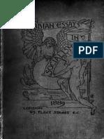 Fabian Essays 1889