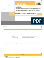 Diferenciar Las Funciones Del Sistema Operativo Insumos y Mantenimiento Del Equipo de Cómputo