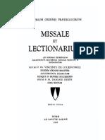 1985 Missale Et Lectionarium O.P.