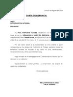 Carta de Renuncia 2010-2