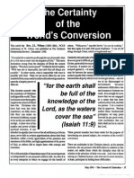 1991 Issue 4 - The Certainty of the World's Conversion - Counsel of Chalcedon