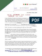 Dec 2nd 09 Oxyzen Market Report
