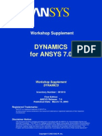 Dynamics ANSYS 7.0 Workshops