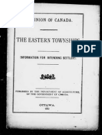 The Eastern Townships Information for Intending Emigrants - Canada. Dept. of Agriculture
