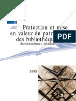 Protection Et Mise en Valeur Du Patrimoine Des Bibliothèques_Recommandations Techniques
