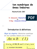 C3 Resolution Systemes Lineaires Enrico Naji