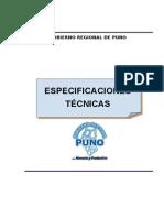 Especificaciones Tecnicas Obra Vial Muñani Saytococha