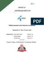 Online recruitment in Telenor Pakistan