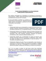 Convocatoria Certificación en Competencias Especificas y Transversale...