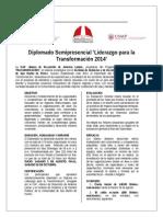 Encarte Diplomado Liderazgo para la Trasnformaciòn - Lima Agosto 2014